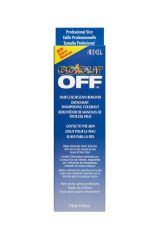 Front view of a blue Ardell Colour Off Hair Color Stain Remover retail box with product information printed in 3 languages