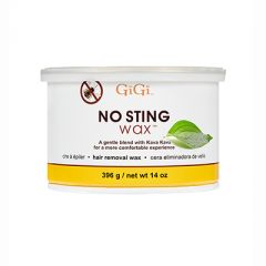 GiGi No Sting 14oz soft wax can with kava kava leaf extract.