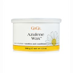Front view of GiGi Azulene Wax with lid on.