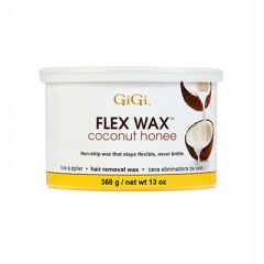 Front view of GiGi Coconut Honee Flex Hard Wax 13oz Can