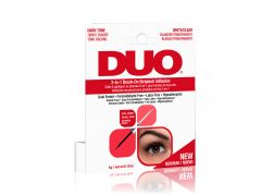 Front view of Ardell DUO 2-in-1 Brush-On Striplash Adhesive Dark and Clear retail wall hook packaging
