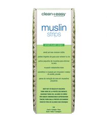 Clean + Easy Small Facial Muslin Wax Strips for Hair Removal in pack