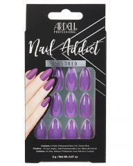 Ardell, Nail Addict Premium Artificial Nail Set, Purple Passion