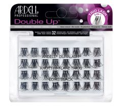 A set of 32 Ardell Double Up Knotted Flare Trio Individuals in long length inside its retail packaging