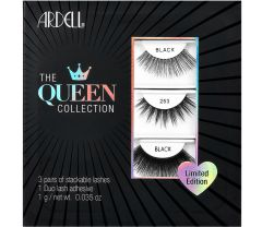 Ardell The Queen Collection wall hook packaging featuring Lacies, 253, & 115 false lash pairs from top to bottom