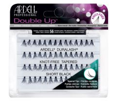Ardell Soft Touch Double Up Individuals Short set of 56 knot-free false lashes arranged in retail wall hook packaging