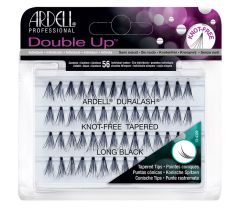 Front view of an Ardell Soft Touch Double Up Knot-Free Tapered Individuals Long faux lashes set in complete retail packaging