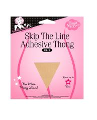 Skip The Line Adhesive Thong XS-S