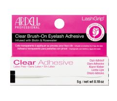 Front view of Ardell LashGrip Brush-On Lash Adhesive Infused with Biotin & Rosewater in a complete retail wall hook packaging