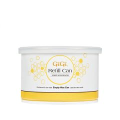 Front view of 14 ounces GiGi Empty Refill Can for wax beads