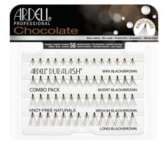 Front view of  Ardell Chocolate Naturals Individuals Combo Pack - Black/Brown in complete retail wall hook packaging