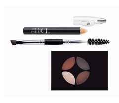 Ardell Brow Defining Kit Medium featuring Brow Pencil, Brush/Spoolie tool, & 4-shade defining palette