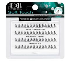 Front view of an Ardell Soft Touch Individuals Short knot-free false lashes set in complete retail wall hook packaging