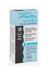 Water Works® Water Activated Permanent Powder Hair Color - #20 Black