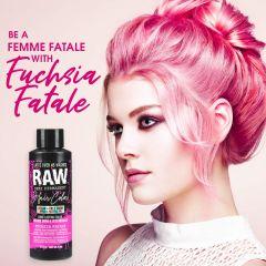Raw Demi-Permanent Hair Color, Fuchsia Fatale, 4 fl oz.