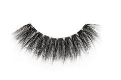 Close-up of an Ardell Mega Volume 258 faux lash featuring its extreme volume medium length & high impact curl