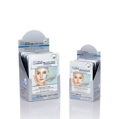 2 open boxes of Satin Smooth LUXSilver Foil Shieet Mask side by side featuring individual sterile foil packs on each box