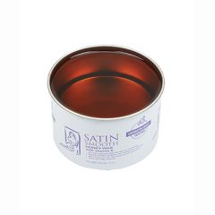 An open 14oz tin can of Satin Smooth showing its Honey Wax with Vitamin E