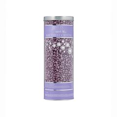 A 23-ounce canister of Satin Smooth Pebbles Wax Amethyst Crystal Thin Film Flex Wax standing upright