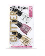 Salon Perfect Nail Lacquer, Glitter Glitz & Glam 3pc Mini Kit