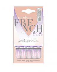 Salon Perfect Neon Modern French Ombre Purple Nail Set