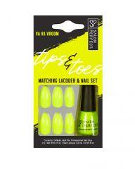 Salon Perfect Tips & Toes Kit Va Va Vroom Matching Lacquer & Nail Set