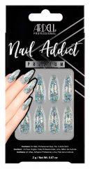 Ardell Nail Addict Premium Nail Set, Blue Jeweled Glitter