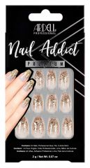 Ardell Nail Addict Premium Nail Set, Dripping in Gold