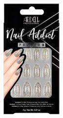 Ardell Nail Addict Premium Nail Set, Grey Python