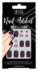 Ardell Nail Addict Premium Nail Set, Burgundy Chrome