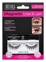 Front view of full Ardell, Magnetic Liquid Liner & Lash Kit, Wispies set in complete retail wall hook packaging