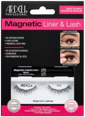 Front view of full Ardell, Magnetic Liquid Liner & Lash Kit, Lash 110 set in complete retail wall hook packaging