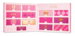 An inside of Ardell 12 Days of WIspies Advent Calendar packaging in pink box featuring its 12 signature wispies