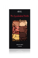 Front cover of Ardell Pro Eyeshadow Palette in Metallic and Matte variant with mixed crack eyeshadow