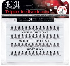 Ardell Knot-Free Flared Triple Individuals, Short, 56-Count
