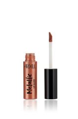 Front view of a capped bottle Ardell Metallic Lip Gloss Drunk Dial Pinkish Beige standing upright