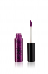 Front view of a capped bottle Ardell Metallic Lip Gloss Glam Rock Deep Violet standing upright