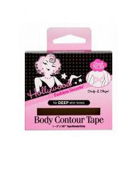 Wide front view of wall-hook ready box of body tape for deep skin tone
