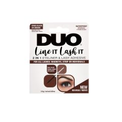 Front view of Ardell DUO Line It Lash It  2 In 1 Eyeliner &  Lash Adhesive Black and Brown retail wall hook packaging