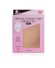 Front view of Silicone Contour Cups Adhesive Bra in Size B pack with printed label text