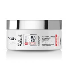 A small white closed plastic tub of Punky Colour hair mask with Intrabond Hair Repairing Complex.