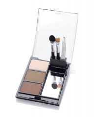 Open Ardell Powder palette Light case featuring Brow Colors, Tweezers, Sponge Tip Applicator, & Brow Brush