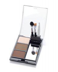 Open Ardell Powder Palette Medium case featuring Brow Colors, Tweezers, Sponge Tip Applicator, & Brow Brush