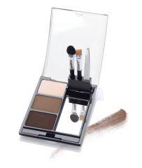 Open Ardell Powder palette Dark case featuring Brow Colors, Tweezers, Sponge Tip Applicator, & Brow Brush