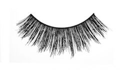 Front view shot of Ardell Double Wispies featuring its flattery, medium volume & long lashes