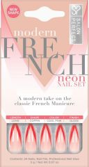Salon Perfect Modern French Neon Nail Set, Orange