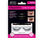 Ardell, Magnetic, Liner & Lash Kit, Wispies in packaging showing magnetic gel liner, applicator brush, & false lashes.