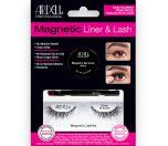Ardell Magnetic  Liner & Lash Kit Demi Wispies in packaging showing magnetic gel liner, applicator brush, & false lashes